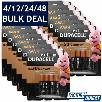 4/12/24/48 x DURACELL AAA ALKALINE BATTERIES LONG LASTING 1.5V BATTERY ENERGIZER