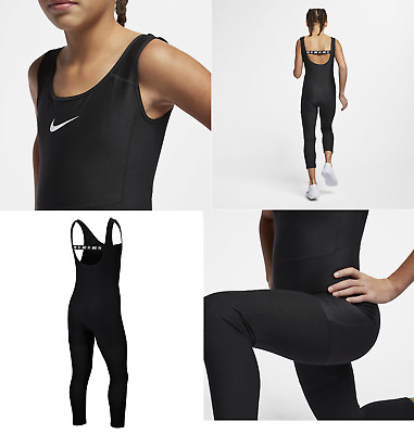 New Nike Girls Studio Bodysuit/ Black/girls sportswear/girls sport/training/ £43