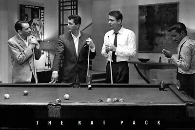 Rat Pack Pool Billiards Poster 24 x 36 Dean Martin Frank Sinatra New