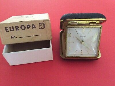 Travel Clock With Alarm Europa Vintage Collectable Made In Germany
