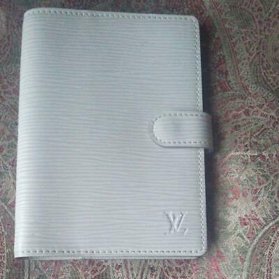 Authentic Louis Vuitton Vintage EPI Ring Agenda PM Binder Notebook Cover White
