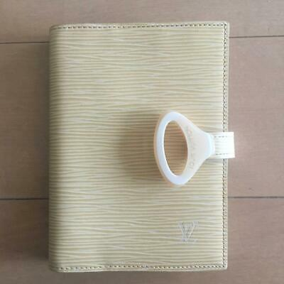Authentic Louis Vuitton Vintage EPI Ring Agenda PM Binder Notebook Cover Vanilla