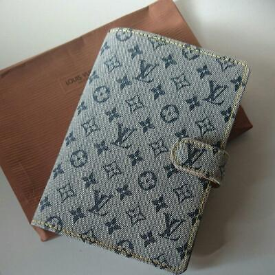 Unused Authentic Louis Vuitton Vintage Monogram Ring Binder Notebook Cover