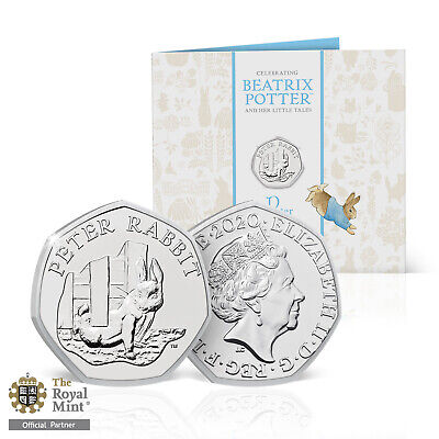 Peter Rabbit 2020 50p Coin Official Royal Mint BU Fifty Pence Beatrix Potter
