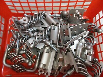 Spiral Drawer Pulls 22 Hinges 100 scre Lot 12 Birdcage Twisted Metal Silver Tone