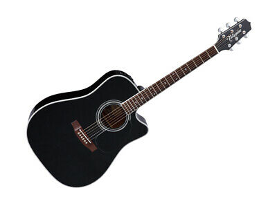 Takamine Pro Series Dreadnought Acoustic Guitar w/ Hardshell Case - Black