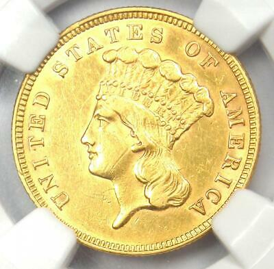 1859 Three Dollar Indian Gold Coin $3 - Certified NGC AU Details - Rare Date!