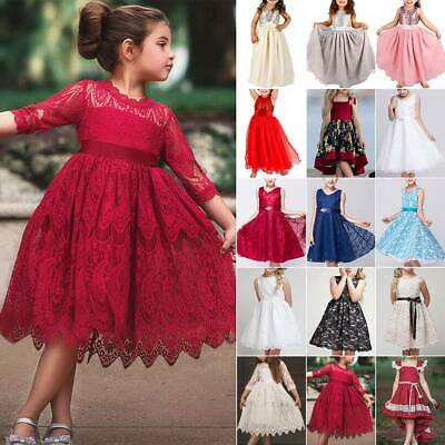 Kids Baby Girls Flower Formal Wedding Pageant Princess Bridesmaid Tutu Dresses