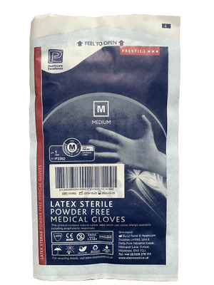 STERILE MEDICAL GLOVES PREMIER LATEX POWDER FREE White Disposable S/M/L