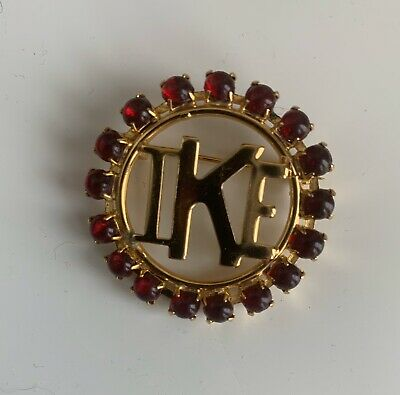 "President Dwight Eisenhower Campaign Brooch Pin ""IKE"""