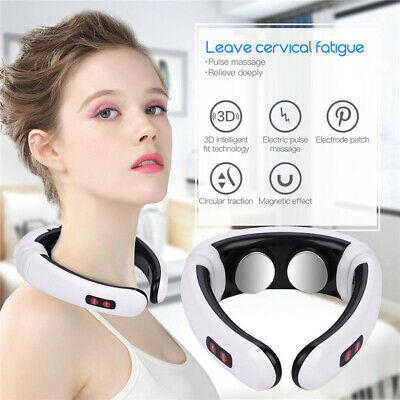 EMP Therapy Electric Cervical Neck Massager Body Shoulder Relax Pain Relieve New
