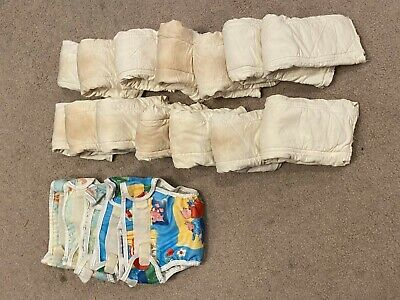 Under the Nile Organic Cotton Prefolded Diapers and Plastic Pants for Newborns