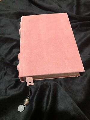 Leather Journal, Notebook, Dusty pink, Hand Made with pendant on bookmark