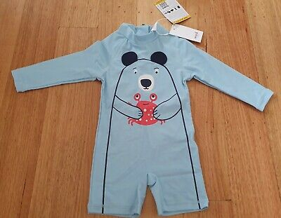 BNWT Seed Baby Boy Swim Romper/Bathers - Size 1/12-18 Months RRP $39.95