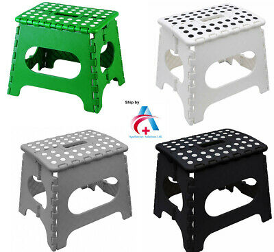 HEAVY DUTY Easy Folding Stool Multi-Purpose Plastic Easy Storage & Carry