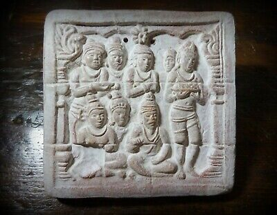 An Early to mid 20th C Asian Terracotta Relief Tile II