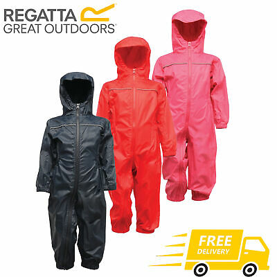Regatta Kids Paddle Puddle Mudplay Waterproof Breathable All In One Suit RRP £40