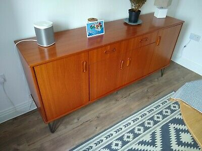 G PLAN RETRO TEAK SIDEBOARD TV MEDIA UNIT HAIRPIN LEGS Mid Century 1970s