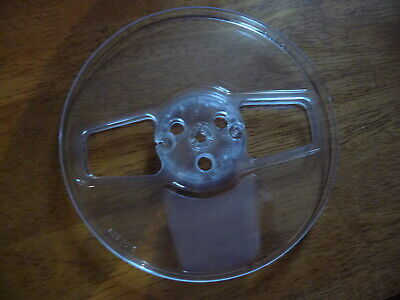 """7"""" X 1/4"""" clear plastic take up reel empty spool New Old Stock NOS qty 10"""
