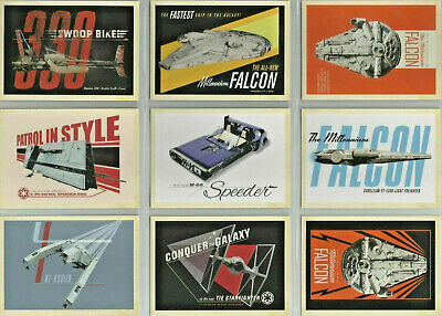 Star Wars - Solo - Ships & Vehicles - Complete 9 Card Chase SET - NM
