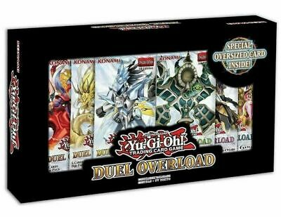 Yugioh TCG Duel Overload Box Set 1st Edition - 6 booster packs
