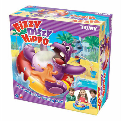 NEW Fizzy Dizzy Hippo TOMY Board Game Kids Funny Party Toy Family Fun Group Play