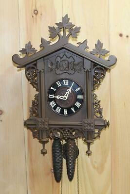 Antique German Black Forest Bahnhausle Railroad Cuckoo Clock