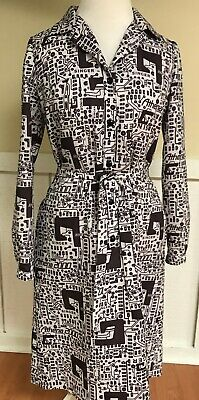 Handmade Singer Sewing Design Black/White Long Sleeve Dress//P91