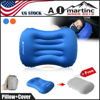 Portable Ultralight Air Pillow Inflatable Cushion Head Rest for Travel Camping