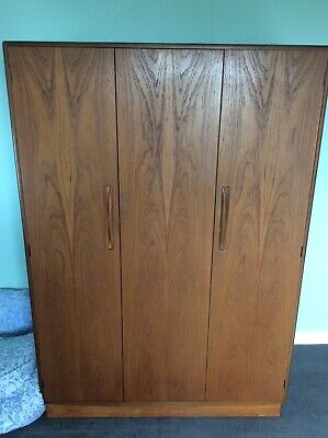 Vintage G Plan Fresco Wardrobe , Teak , 3 Door ,2 Door Folding , Fitted