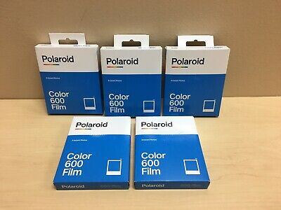 Polaroid 600 Instant Color Film for Polaroid 600 Type Cameras (Pack of 5)
