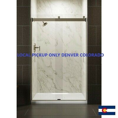 "KOHLER 706008-L-MX Levity(R) Sliding Shower Door, 74"" H X 43-5/8 - 47-5/8"" W,"