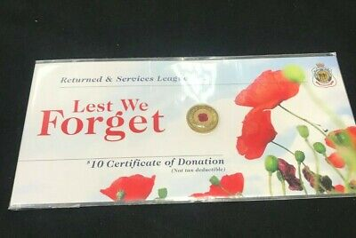2012 $2 Red Poppy RSL Lest We Forget