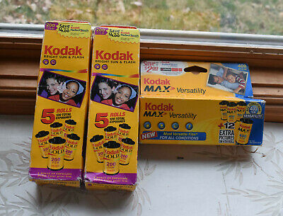 A lot of 14 rolls of Kodak of expired color, gold/max negative film 24 exposure