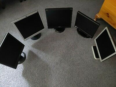 x4 LCD Monitors + x1 CCTV Monitor + x10 CAT 6 Ethernet patch cables