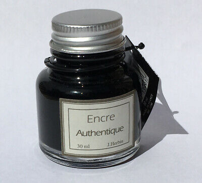 J. Herbin Authentique Ink 30Ml Black Japanese Calligraphy Pen Lawyer's Ink