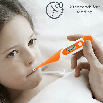 Soft Oral LCD Digital Thermometer For Baby Kid Adult Health Medical Thermometers