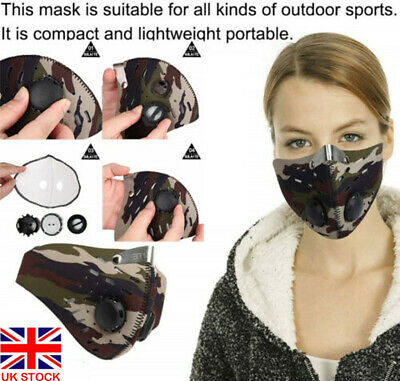Adult Anti-Pollution Half Face Dust Sports Mask Filter Mask Motorcycle Cycling
