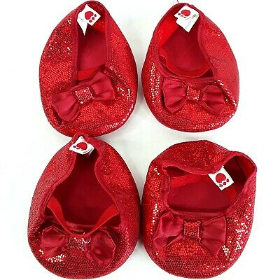 Build a Bear toy doll Shoes Red