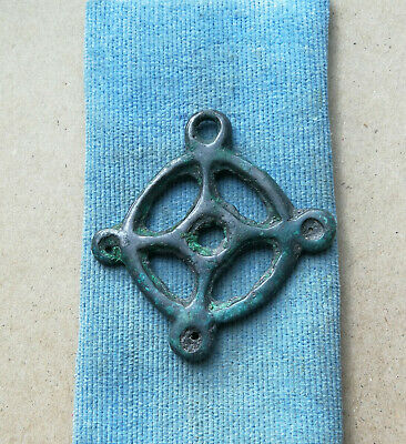 "Ancient Viking Bronze pendant AMULET ""SUN"" GREAT SAVE VERY RARE"
