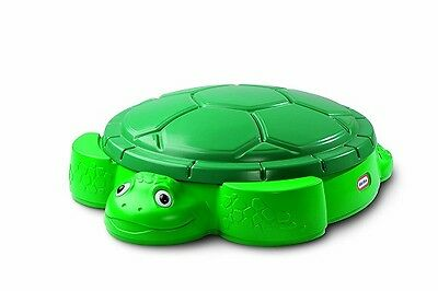 Turtle Shell Sand Box Pit Large Play Lid Removable Two Seats On Outside Garden
