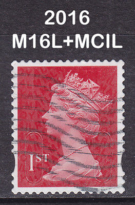 2016 Machin 1st Class Dark Red M16L+MCIL SG U3027 2B Photo Walsall Used Security