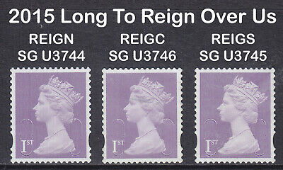 2015 Machin 1st Class Long To Reign Over Us SG U3744-3746 O15R+C+S Set Of 3 Used