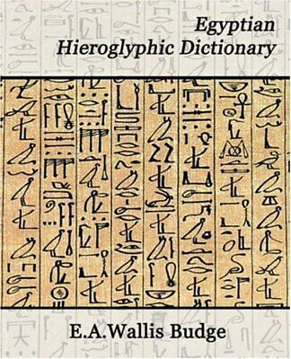 EGYPTIAN HIEROGLYPHIC DICTIONARY (BOOKS ON EGYPT AND By E. A. Wallis Budge *VG+*