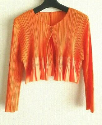 issey miyake pleats please top cardigan size 3 made in japan F/S near mint short