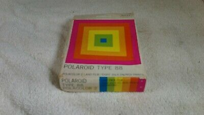 EXPIRED Polaroid Type 88 Land Film Vintage Polacolor Sealed Box 8 Picture 1980's