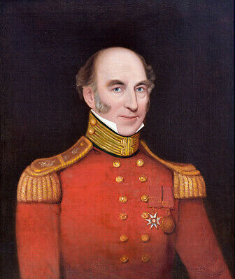 Portrait of French Officer, Military Order of St. Louis.18th/19th century.