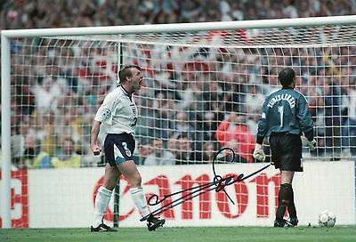 STUART PEARCE In Person Signed 12x8 Photo ENGLAND & NOTTINGHAM FOREST Proof COA