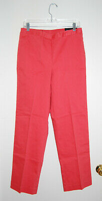 NWT Alfred Dunner Women's Coral Orange Proportioned Medium Pants sz 10