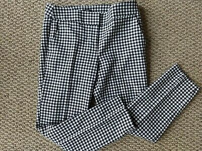 Ann Taylor Loft Black And White Gingham Julie Ankle Pants Size 4 EUC L@@K!